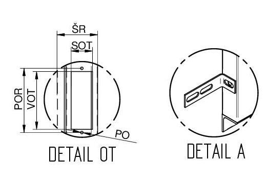 """Detail """"OT"""" a detail """"A"""" ŠD VDLM - S"""