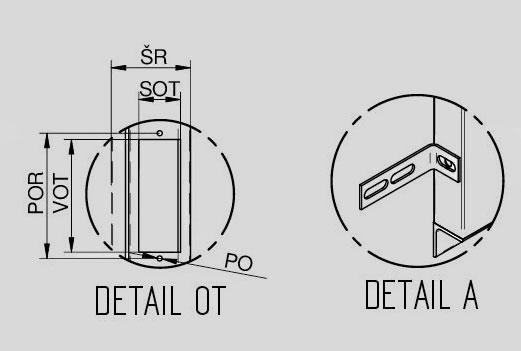 """Detail """"OT"""" a detail """"A"""" ŠD VDLM - U"""