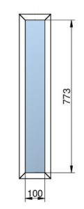 Rámeček prosklení a skleněná výplň ŠD VDLM - S