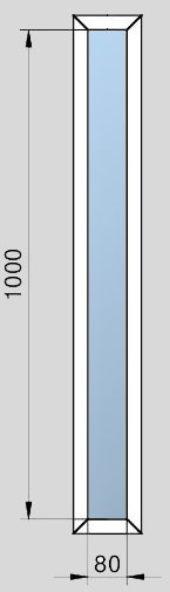 Rámeček prosklení a skleněná výplň ŠD VDLM - U