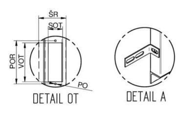"""Detail """"OT"""" a detail """"A"""" ŠD VDLM - D"""
