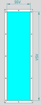 Rámeček prosklení a skleněná výplň ŠD VDLM - D